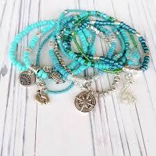 Beach Stack Bracelets for <b>Women</b> - <b>Beach Jewelry</b> - Beach Charm ...