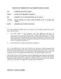 ontario notice of termination and forfeiture of lease legal picture of ontario notice of termination and forfeiture of lease