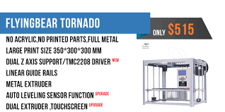 Flyingbear Tornado <b>Full Metal</b> DIY <b>3D Printer</b> Kit - 3DPRINTERSBAY