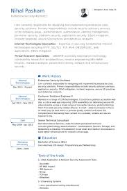 Security Resume samples - VisualCV resume samples database