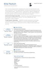 Security Resume samples - VisualCV resume samples database