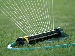 Image result for lawn sprinkler system can also be used to water plants and trees in the garden
