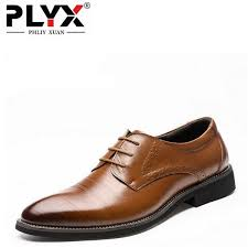 <b>PHLIY XUAN</b> Flat Classic Genuine Leather Wingtip Carved Italian ...