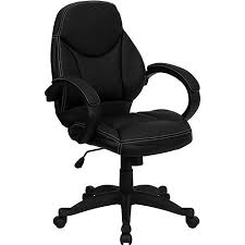 contemporary leather mid back office chair black black office chair