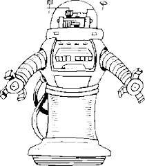 Small Picture Robot 3 coloring page