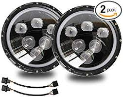 Jeep LED Projector Headlights with Halo 7 Inch 60W ... - Amazon.com