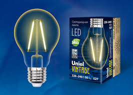 <b>Лампа</b> светодиодная <b>Uniel</b> Vintage <b>LED</b>-A67-<b>4W</b>/<b>GOLDEN</b>/<b>E27</b> ...