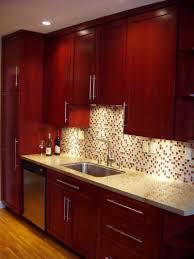 Red Tile Paint For Kitchens 17 Best Ideas About Cherry Wood Kitchens On Pinterest Dark Wood