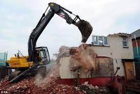 Image result for demolition of a house