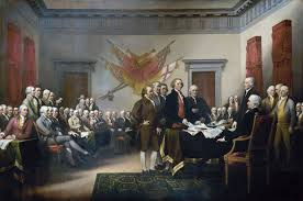 age of enlightenment john trumbull s declaration of independence shows the drafting committee presenting its work to the congress