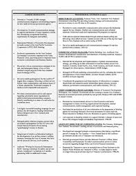 executive resume communications executive resume