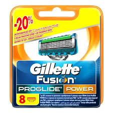 <b>Сменные</b> кассеты для бритья <b>GILLETTE Fusion ProGlide</b> Power 8 ...
