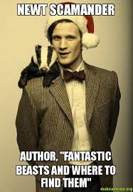 "Newt Scamander Author, ""Fantastic Beasts and Where to Find Them ... via Relatably.com"