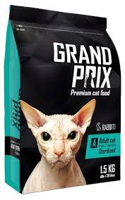 <b>Корм</b> для кошек <b>GRAND</b> PRIX Sterilized с кроликом — купить по ...