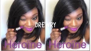 <b>Mac</b> Lipstick    <b>Heroine</b>    on dark skin (swatch) - YouTube