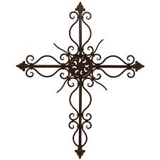 iron wall cross love: wrought iron fluer de lis cross love it home decor interior pinterest the wall hang on and tattoos and body art