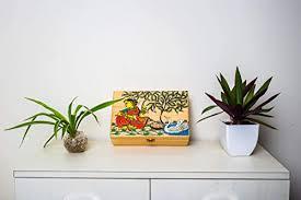 Wooden Jewellery Storage Box with Handpainted ... - Amazon.com