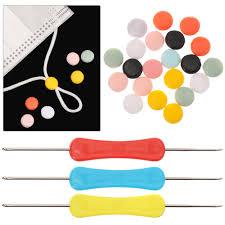 Plastic Flat Spiral Buckle <b>Adjustable</b> Beads For <b>Anti slip Mask</b> ...