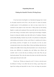 expanding idea and finding the scientific words in writing essays      expanding idea and finding the scientific words in writing essays