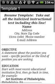 resume format   android apps on google play    resume format  screenshot thumbnail