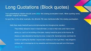 How to Format a Long Quote in MLA Style   Jerz     s Literacy Weblog