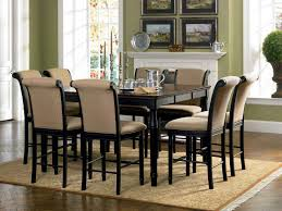 tall dining chairs counter: coaster cabrillo counter height dining set black amaretto