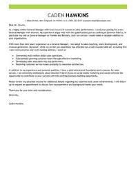 best general manager cover letter examples   livecareermore general manager cover letter examples