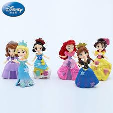 <b>6PCS</b>/Lot <b>disney frozen</b> Margin Snow White Princess doll Model ...