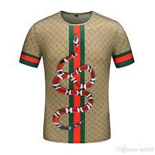 <b>2019</b> Mens Designer T Shirts Fashion <b>Tiger Printed</b> Men'S Casual ...