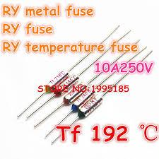 <b>RY 100pcs</b>/<b>lot</b> New Micro <b>thermal fuse</b> 10A250V 192 Degrees 192 C ...