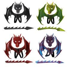 3Pcs/set Dragon Cosplay Props Wing And Tail <b>Children's</b> ...