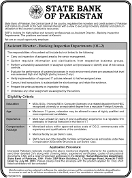 assistant director og 2 banking inspector departments job in state assistant director og 2 banking inspector departments job in state bank of sbp