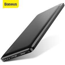 <b>Baseus</b> 10000mAh <b>Power</b> Bank Slim External Battery Pack Dual ...