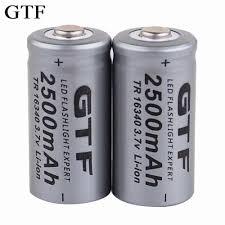 <b>GTF</b> 16340 Battery lithium battery 2800mAh battery + charger ...