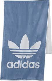 <b>Полотенце Adicolor</b>, <b>синее</b> оптом под логотип