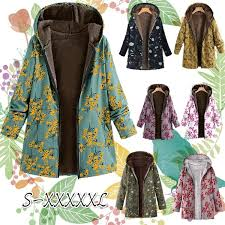 <b>2019</b> New Winter Warm <b>Women's</b> Fashion <b>Leaf Floral</b> Print Fleece ...