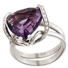Кольцо с <b>аметистом</b> и бриллиантами — купить по лучшей цене в ...