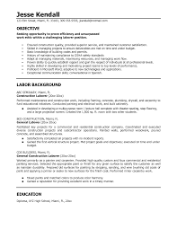 construction resume samples laborer cipanewsletter best photos of entry level construction laborer resume samples