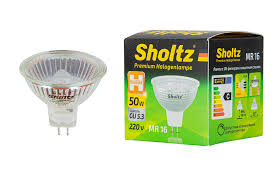 <b>Лампа галогенная SHOLTZ MR16</b> GU5.3 50Вт 2800K 220В DIMM