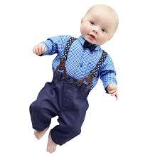 england style steps: european hot baby boys cloth set pants sets plaid t shirt top bib pants overall