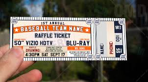 sports invites classic baseball raffle ticket template raffle ticket design 5 product 1 olympus digital camera olympus digital camera