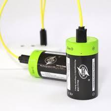 [Discount] 2Pcs <b>ZNTER</b> 1.5V <b>6000mAh</b> USB Rechargeable D Size ...