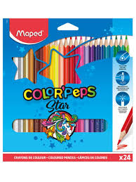 <b>Карандаши цветные COLOR</b>'PEPS треугольные, ударопрочный ...