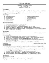 resume server examples   kasoo resumetastic job resume general manager restaurant bar sample resumes