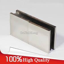 <b>High Quality 4PCS/lot 304</b> Stainless Steel Frameless Shower Glass ...