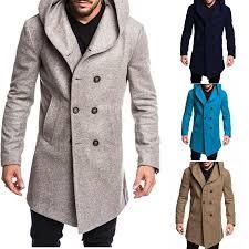 <b>ZOGAA Brand</b> 2018 Wool Coat <b>Men</b> Long Winter Jacket Casual ...