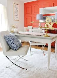 color me happy pops of coral colored cheer bright office