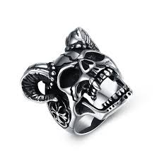 Sheep Head Skull Titanium Steel Men Ring Sale, Price & Reviews ...