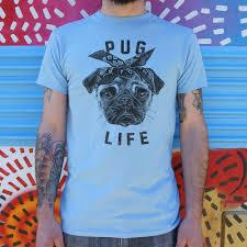 <b>Mens Pug Life Dog</b> T-Shirt – Sit Up Doggy Treat