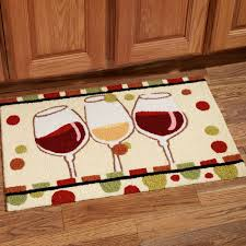 image wine kitchen rug set  stylish en vin wine glass handmade kitchen rug for kitchen rugs